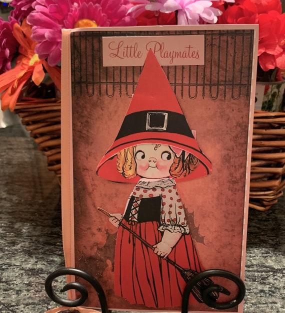 Little Playmate Keepsake Paper Doll Card