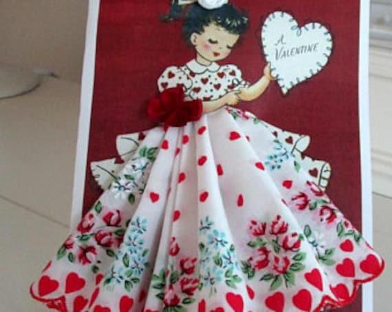 A Valentine For You Keepsake Hankie Card