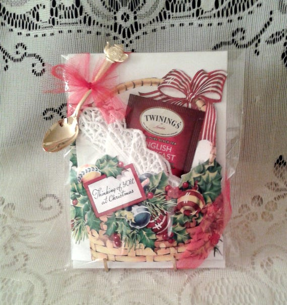 Christmas Basket Keepsake Card with Spoon
