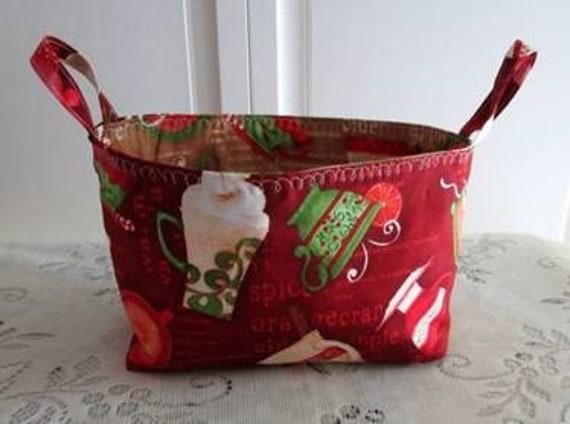 Christmas Teaup Basket