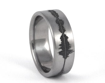 sounds of love personalized sound wave ring nerd music