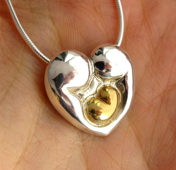 Family is Golden is a Delux Heart Necklace with a Personalized Engraving - Donation, Gold baby Push Present Valentine Mother's Day Gift 104