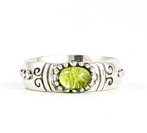 Puella Magi Madoka Magica Magical Girl Genre Superhero Ring Replica with a Genuine oval peridot Custom Personalization Rickson Jewellery
