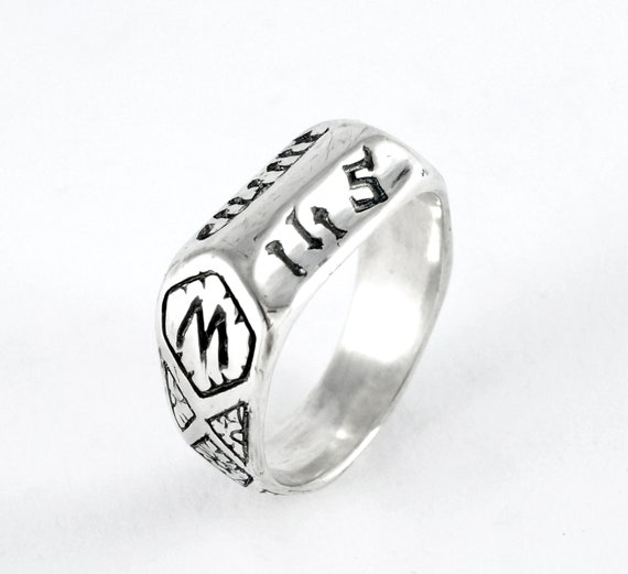 Saint Joan of Arc Replica Medieval Devotional Ring for First Communion Catholic Confirmation Gift - Rickson 207 207b
