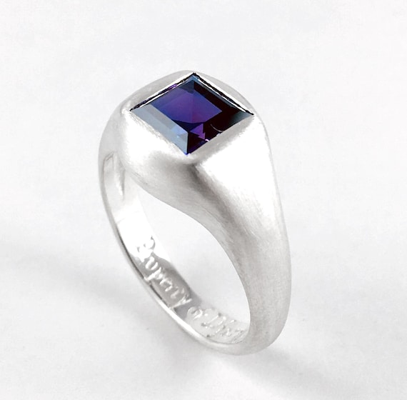Djarn's Amethyst Ring from Everquest Video Game Nerd Engagement Wedding Ring Property of Djarn Geekery