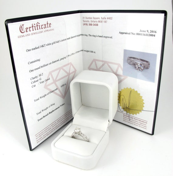 Jewellery Appraisal Certificate for Rickson Jewellery Rings Necklaces Earrings Diamond and Gemstones Gold and silver pieces