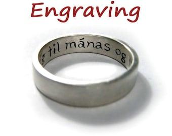 Engraving Upgrade for Any Custom Rickson Jewellery Item