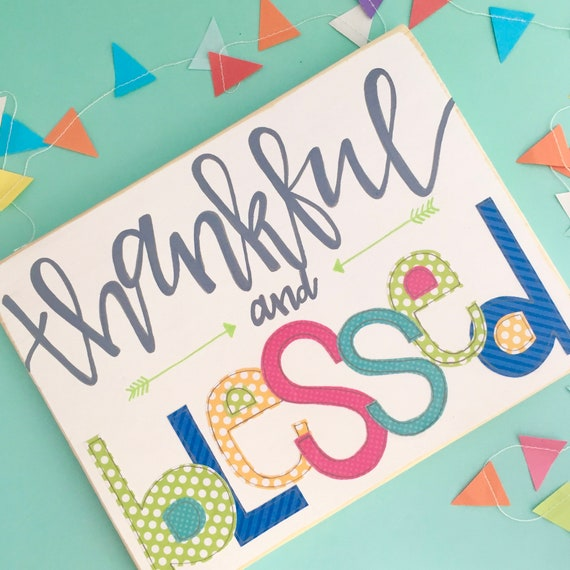 Thankful Sign • Blessed Sign •Handlettered Signs
