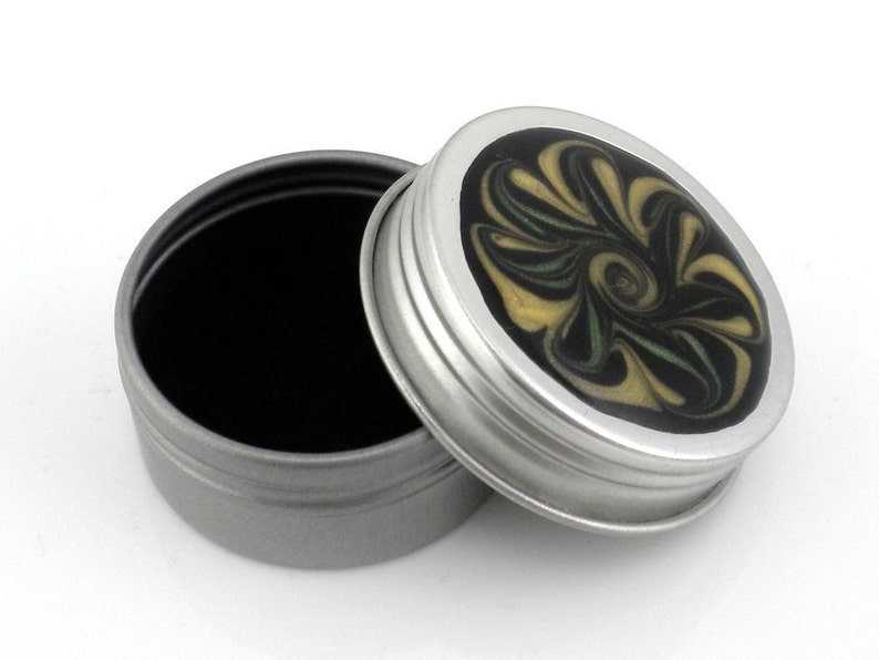 Pill Box Trinket Box Handmade #87 Small Flower Treasure Box Jewelry Box Yellow and Green Flower