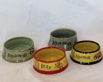 Hogwarts House Personalized Pet Bowls