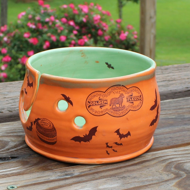 Bat Gothic Ceramic Yarn Bowl