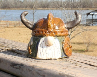 Viking Gnome - with axe and shield, blue