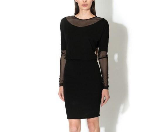 Aquilla dress, little black dress, Eco fabric.