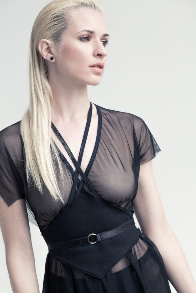 Lilith Sheer Black Dress Night Dress Little Black Dress See