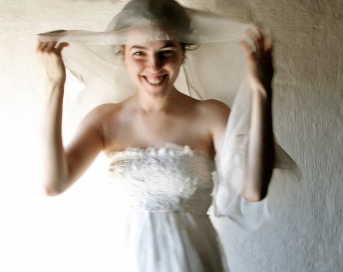 Wedding scarf, Ivory Bridal Scarf, white stole, cream silk scarf, wedding veil, chiffon bridal wrap, white silk shawl, Silk sash, VIRGILIA