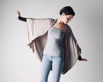 Long cardigan, Oversize cardigan, Shawl with sleeves, Plus size shrug, Draped top, shawl top, long sleeved cardigan, Maternity shrug,