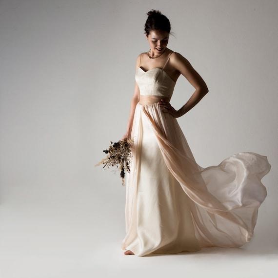 Sample Sale Wedding Dress Boho Wedding Dress Bohemian Wedding Dress Blush Wedding Dress Boho Color Wedding Dress Alternative Primula