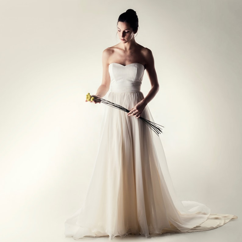 60579f6d7797 Wedding dress Bridal separates Boho wedding dress Long | Etsy