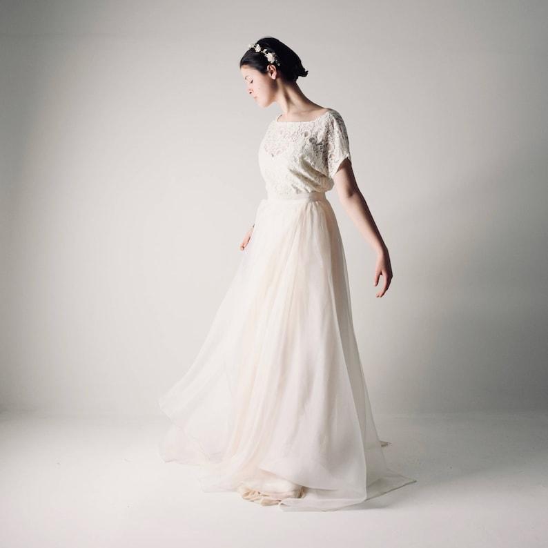dfb1d2eb6868 Lace wedding dress Bohemian wedding dress Wedding dress | Etsy
