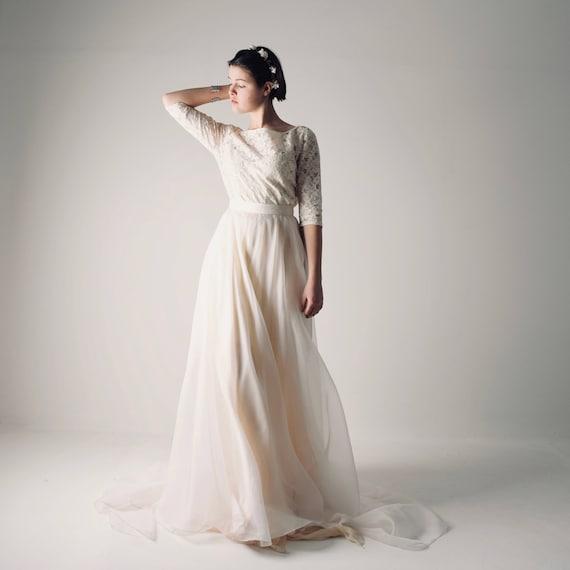 Plus Size Modest Wedding Dresses | Long Sleeve Wedding Dress Boho Wedding Dress Lace Wedding Etsy