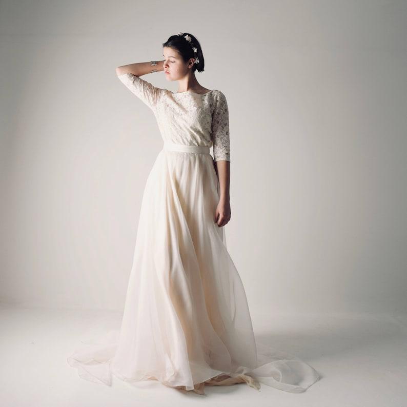 be27b279f0ad Long sleeve wedding dress Boho Wedding dress Lace wedding | Etsy