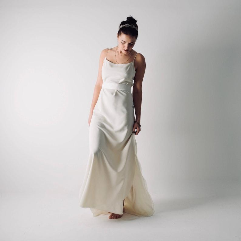 c4bd16862f Slip Wedding dress Silk wedding dress Beach wedding dress | Etsy