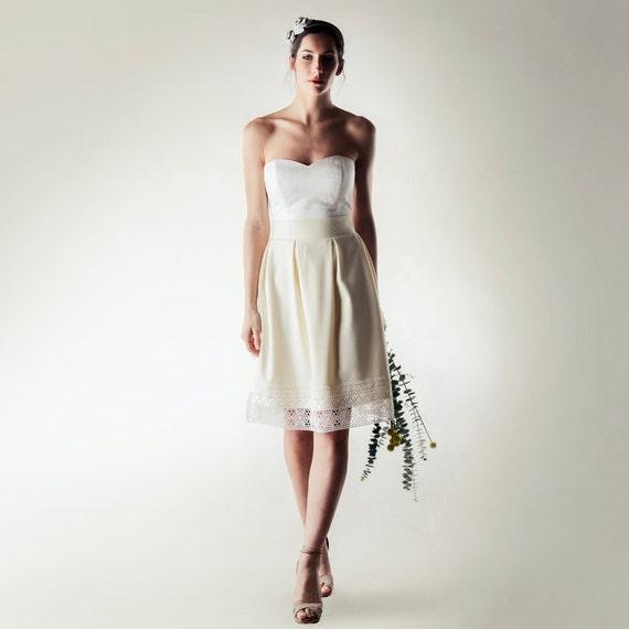 Short Wedding Dress Winter Wedding Dress Wool Wedding Dress Etsy