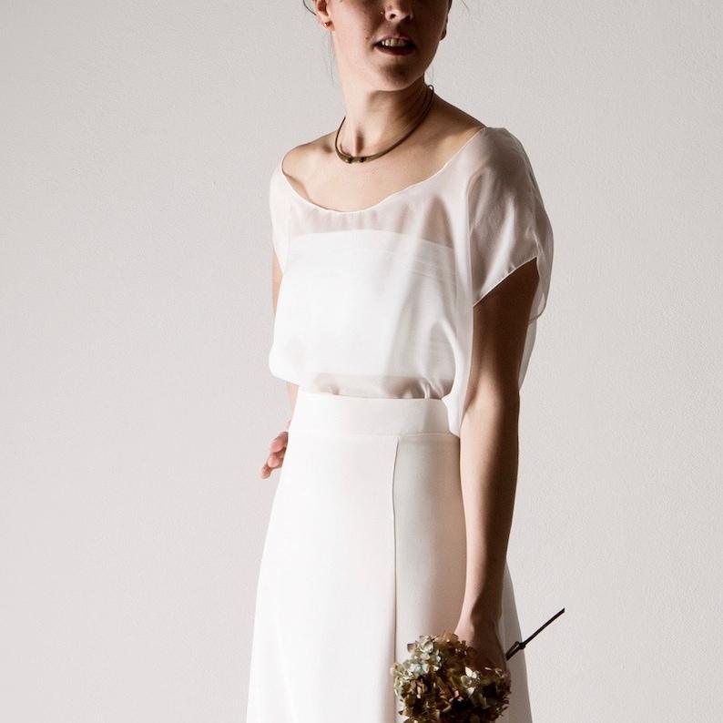designer fashion 5fabe be449 Baumwolle-Bandeau-Top, Braut Bustier, Stretch-Spitze, Hochzeit trennt,  Jersey Hochzeit Mieder, Hochzeit oben, zwei Stück Hochzeitskleid, MYSOTIS