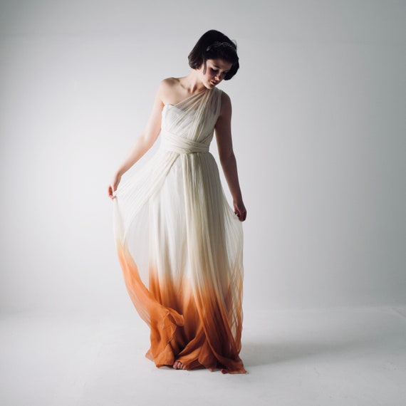 K'Mich Weddings - wedding planning - dip dyed dress - Grecian dress - boho  dress -  esty