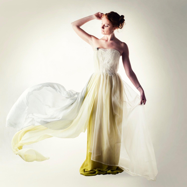 Sample Sale Wedding Dress Green Wedding Dress Fairy Wedding Etsy