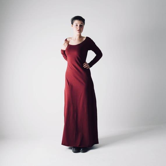 Long dress, Maxi dress, Long sleeve dress, Plus size dress, Grecian dress,  Long tunic, Evening dress, Formal dress, Modest dress, Red dress