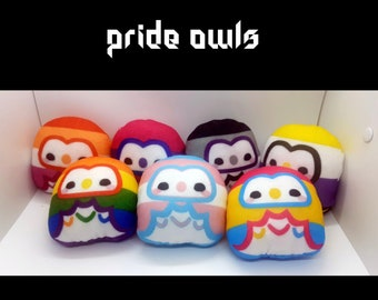 Pride Owls (Old Designs) - LGBTQA - Queer - Owl - Gay Lesbian Pan Bi Trans Ace Nonbinary
