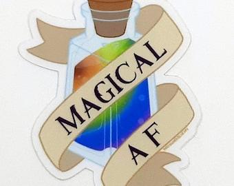Magical AF Potion Bottle - Sticker or Magnet - Pride Queer LGBT LGBTQA