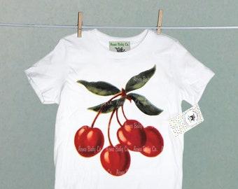 Cherries Kids Jersey Raglan T-Shirt Children 3//4 Sleeve Baseball Shirt Top