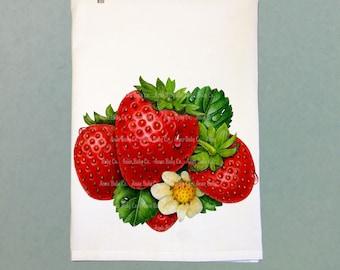 64178a72c38d Retro Kitchen Towel, Strawberries Tea Towel, Tea Towel, Retro Tea Towel,  Hand Towel, Strawberry Towel, Kitchen Towel, Retro Towel