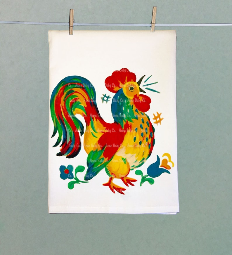 Retro Kitchen Towel, Rooster Tea Towel, Tea Towel, Retro Tea Towel, Hand  Towel, Retro Hand Towel, Kitchen Towel, Retro Towel, Kitchen Bird
