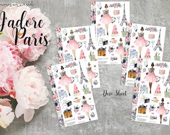 J'Adore Paris Stickers - A la Carte | Choice of skin/hair | Choice of ECLP or HP