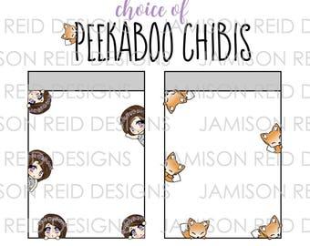 Chibi Fox Peekaboos - Please Read Listing Details