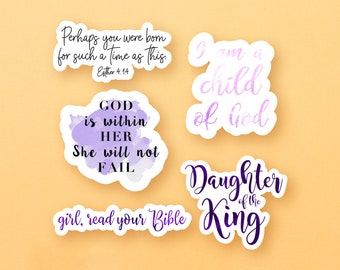Purple Bible Verse Sticker Pack