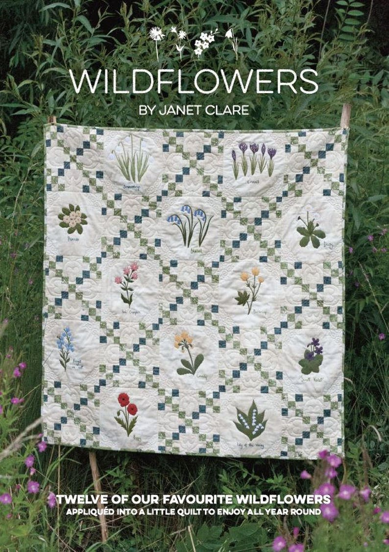 Wildflowers  A stunning pattern book with 12 intricately image 0