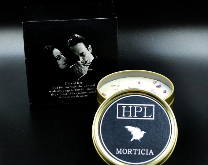 Morticia - Gothic Love Candle | Vegan Friendly Candle |  Horror Candle | Gothic Soy Candle