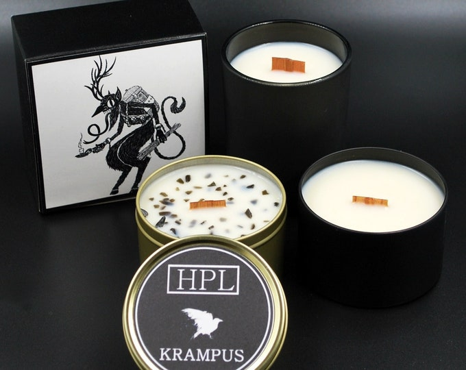 Krampus -  Creepy Holiday Candle | Vegan Friendly Candle | Horror Candle | Gothic Soy Candle