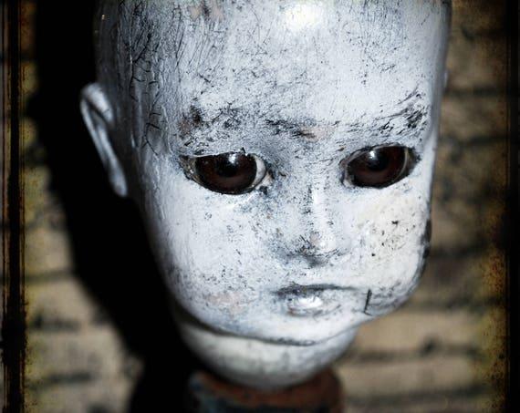 Haunted Doll Ghost Box #3 -  Creepy Horror Gothic Handmade Folk Art Primitive Doll Decoration