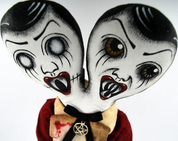Butcher's Daughters - Monster Handmade Creepy Horror Gothic Steampunk Handmade Folk Art Primitive Rag Dolls