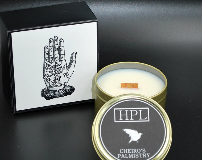 Cheiro's Palmistry - Spiritual Haunted Candle | Palm Reading Candle |  Vegan Friendly Candle | Horror Candle | Gothic Soy Candle