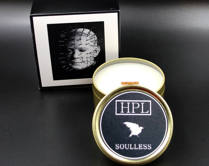 Soulless -  Hellraiser Candle | Pinhead Candle | Horror Haunted Candle | Vegan Friendly Candle | Horror Candle | Gothic Soy Candle
