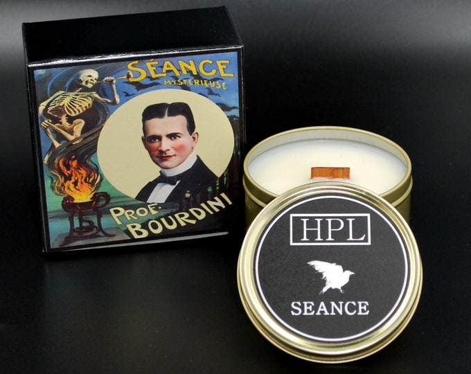Seance - Ghostly Candle | Spirit Candle | Haunted Candle | Vegan Friendly | Horror Candle | Gothic Soy Candle