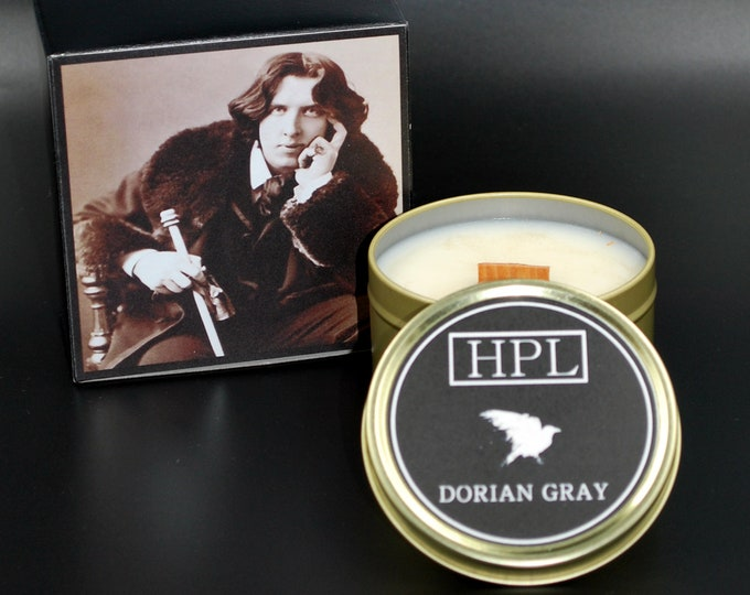Dorian Gray -  Literary Writer Candle | Horror Haunted Candle | Vegan Friendly Candle | Gothic Soy Candle