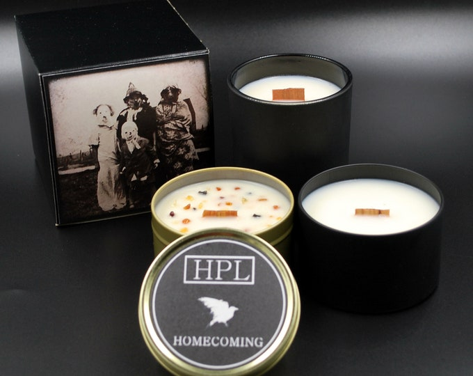 Homecoming -  Creepy Candle | Dark  Haunted Candle |  Vegan Friendly Candle | Horror Candle | Gothic Soy Candle
