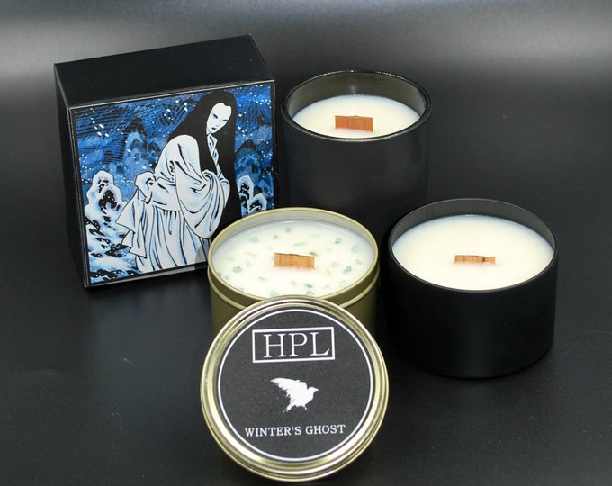 Winter's Ghost - Yuki-Onna - Ice Demon Candle | Japanese Candle | Spirit Demon Candle | Vegan Friendly Candle | Gothic Soy Candle